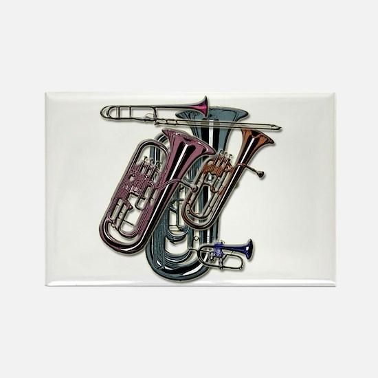Unique Brass Rectangle Magnet