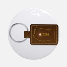 Arizona Leather Key Fob Round Ornament