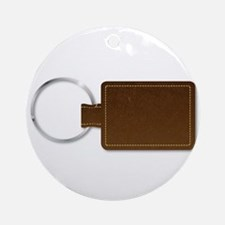 Leather Key Fob Round Ornament
