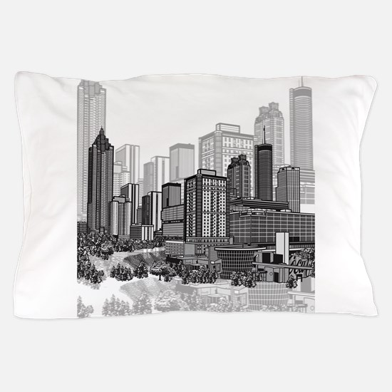 Atlanta, Georgia Art Pillow Case