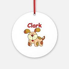 Clark Puppy Ornament (Round)