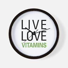 Live Love Vitamins Wall Clock
