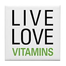 Live Love Vitamins Tile Coaster