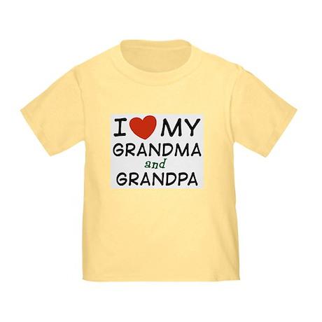 I Love My Grandma and Grandpa Toddler T-Shi