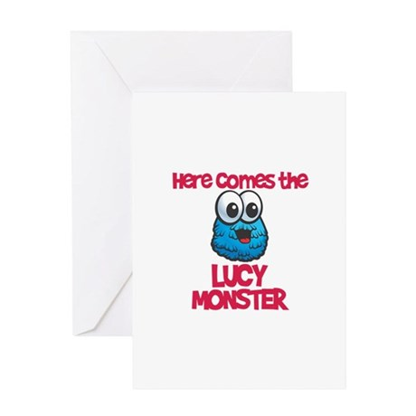 Lucy Monster Greeting Card