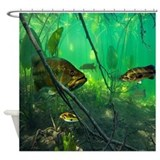 Bass fishing Shower Curtains