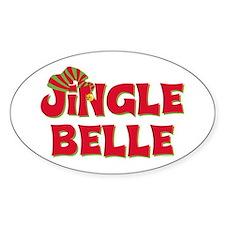 Jingle Belle 1 Oval Decal
