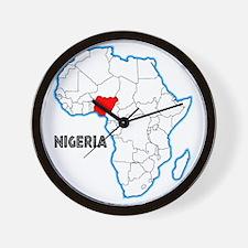 Nigeria Wall Clock
