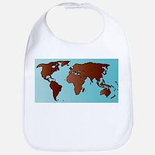 World Map Outline Bib