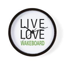 Live Love Wakeboard Wall Clock