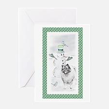 Keeshond - Christmas Greeting Card