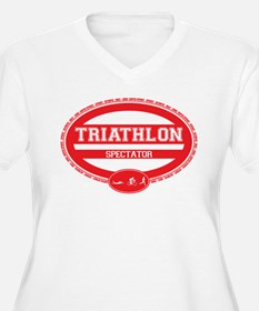 TRIATHLON-SPECTATOR-WOMEN-red Plus Size T-Shirt
