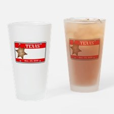 Texas Plate Drinking Glass