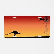 Australian Sunset Aluminum License Plate