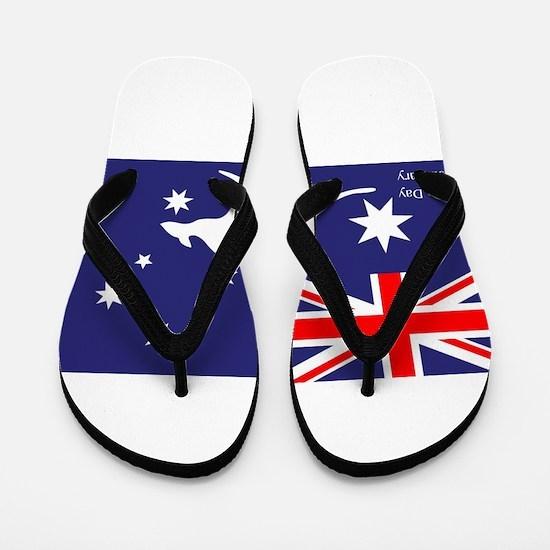 Australia Day Kangaroo Flip Flops