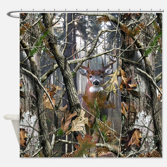 Whitetail In The Woods Shower Curtain