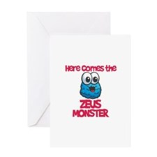 Zeus Monster Greeting Card