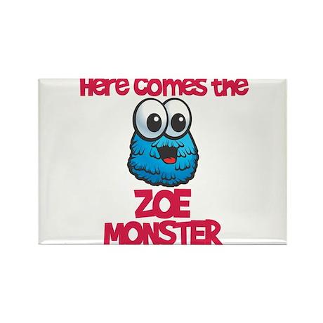 Zoe Monster Rectangle Magnet (10 pack)