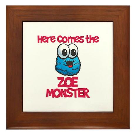 Zoe Monster Framed Tile