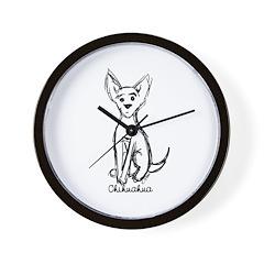 Chihuahua Sketch Wall Clock