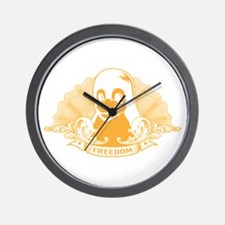 tux dollar Wall Clock