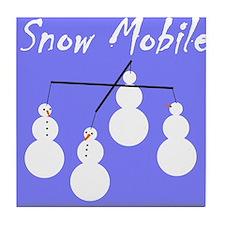 Snow Mobile Tile Coaster