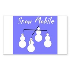 Snow Mobile Rectangle Decal