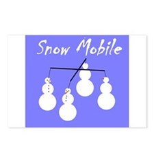 Snow Mobile Postcards (Package of 8)