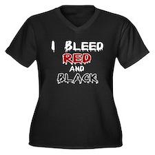 I Bleed Red & Black Women's Plus Size V-Neck Dark