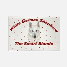 White German Shepherd - Smart Rectangle Magnet