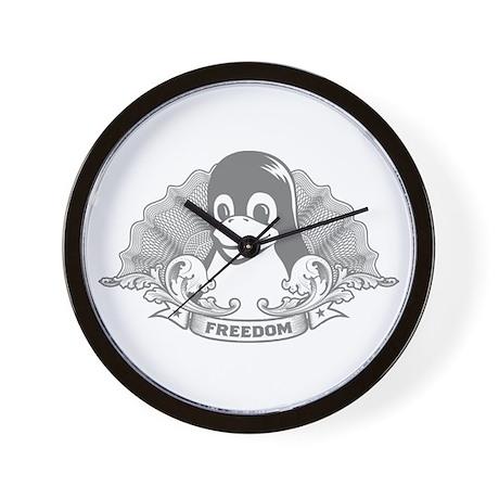 tux dollar Wall Clock
