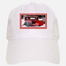 Keeshond - Old Car Christmas Baseball Baseball Cap
