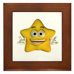 Twinkle Star Framed Tile