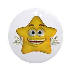 Twinkle Star Ornament (Round)