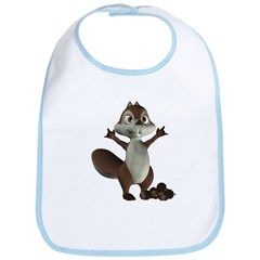 Nickie Squirrel Bib
