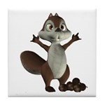 Nickie Squirrel Tile Coaster