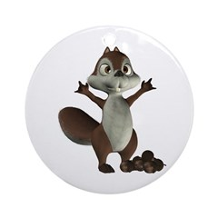 Nickie Squirrel Ornament (Round)