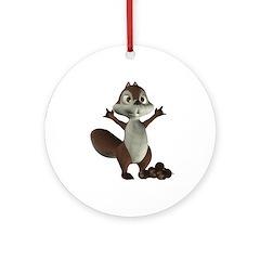 Nickie Squirrel Ornament (Round)