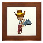 Cowgirl Kit Framed Tile