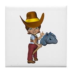 Cowgirl Kit Tile Coaster