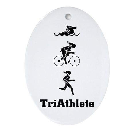 Women's Triathletes II Oval Ornament