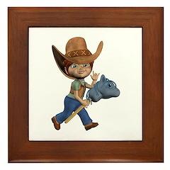 Cowboy Kevin Framed Tile