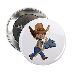 "Cowboy Kevin 2.25"" Button"