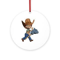 Cowboy Kevin Ornament (Round)