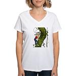 Jack 'N The Beanstalk Women's V-Neck T-Shirt