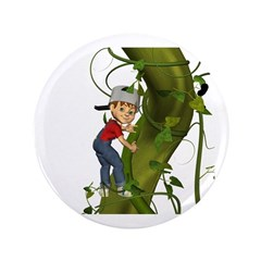 "Jack 'N The Beanstalk 3.5"" Button"