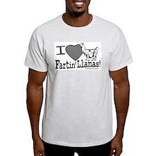 Farting Llamas Ash Grey T-Shirt