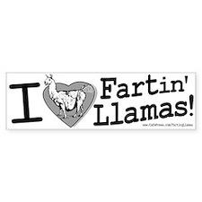 Fartin' Llamas Bumper Bumper Sticker