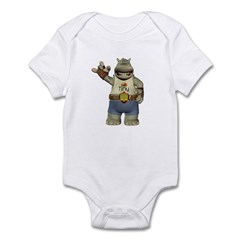 Heath Hippo Infant Bodysuit