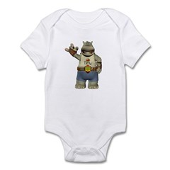 Heath Hippo Infant Bodysuit